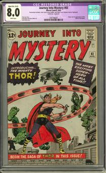 Journey Into Mystery #83 CGC 8.0 Moderate/Extensive (B-4) Restoration (B-4) *1397786001*