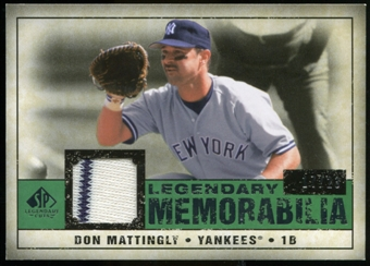 2008 Upper Deck SP Legendary Cuts Legendary Memorabilia Dark Green #DM Don Mattingly /23