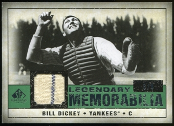 2008 Upper Deck SP Legendary Cuts Legendary Memorabilia Dark Green #BD Bill Dickey 3/8