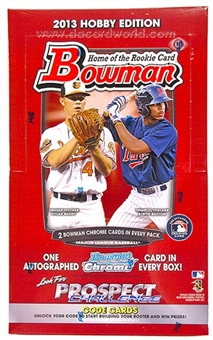 2013 Bowman Baseball Hobby Box