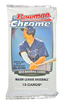 2013 Bowman Chrome Baseball Jumbo Pack