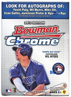 2013 Bowman Chrome Baseball 8-Pack Box