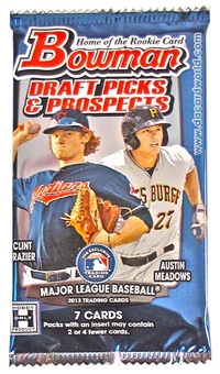 2013 Bowman Draft Picks & Prospects Baseball Hobby Pack