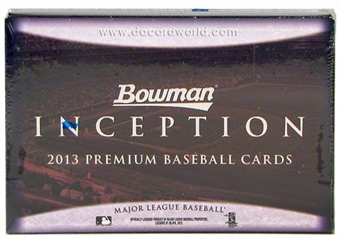 2013 Bowman Inception Baseball Hobby 8-Box Case - DACW Live 27 Spot Random Team Break