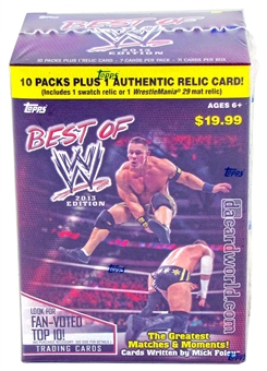 2013 Topps WWE Best Of Wrestling 10-Pack Box (1 Relic Per Box!)