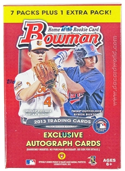 2013 Bowman Baseball 8-Pack Box