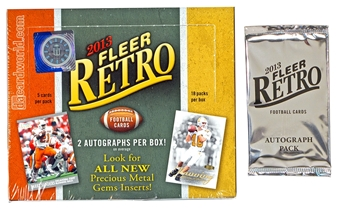 COMBO DEAL - 2013 Upper Deck Fleer Retro Football Hobby Box + Bonus Pack