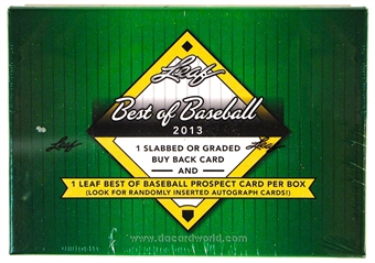 2013 Leaf Best Of Baseball Hobby Box