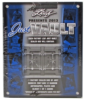 2013 Leaf Just Vault Baseball Hobby Box