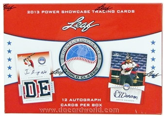 2013 Leaf Power Showcase Baseball Hobby Box