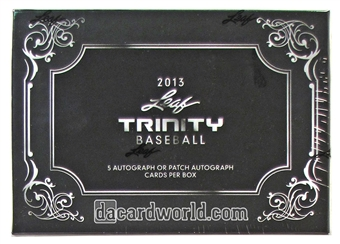 2013 Leaf Trinity Baseball Hobby Box