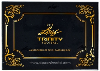 2013 Leaf Trinity Football Hobby Box