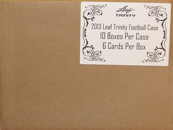 2013 Leaf Trinity Football Hobby 10-Box Case
