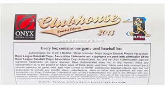 2013 Onyx Clubhouse Collection Lumber Edition Baseball Hobby Box