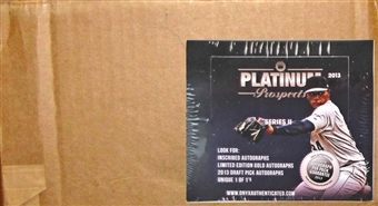 2013 Onyx Platinum Prospects Series 2 Baseball Hobby 6-Box Case