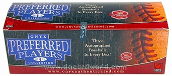 2013 Onyx Preferred Players Collection Baseball Hobby 3-Box Case
