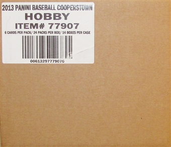 2013 Panini Cooperstown Baseball Hobby 14-Box Case