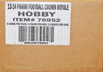 2013 Panini Crown Royale Football Hobby Case - DACW Live 30 Spot Random Team Break