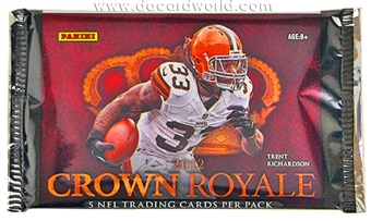2012 Panini Crown Royale Football Hobby Pack