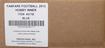 2013 Press Pass Fanfare Football Hobby 10-Box Case
