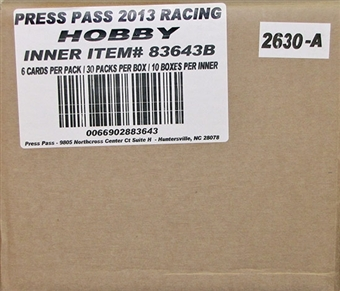 2013 Press Pass Racing Hobby 10-Box Case