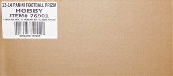 2013 Panini Prizm Football Hobby 12-Box Case