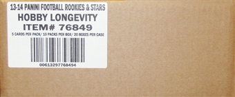 2013 Panini Rookies & Stars Longevity Football 20-Box Case (80 Autos or Mem per Case!)