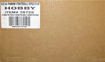 2013 Panini Spectra Football Hobby 8-Box Case