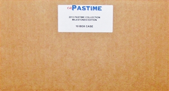 2013 Pastime Milestones Edition Baseball Hobby 10-Box Case