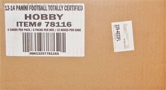 2013 Panini Totally Certified Football Hobby 12-Box Case