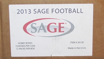 2013 Sage Autographed Football Hobby 10-Box Case
