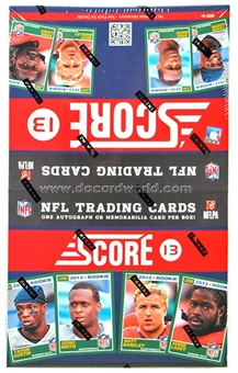2013 Score Football 36-Pack Box (One Autograph or Memorabilia Card Per Box)!