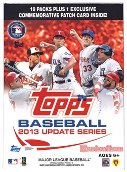 2013 Topps Update Baseball 10-Pack Box - ONE PATCH CARD PER BOX !