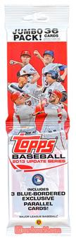 2013 Topps Update Baseball Jumbo Rack Pack - Regular Price $4.99 !!!