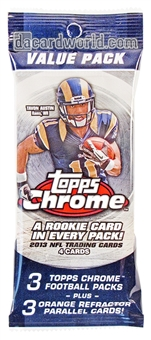 2013 Topps Chrome Football Value Pack (Lot of 12)