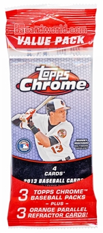 2013 Topps Chrome Baseball Value Rack Pack