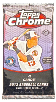 2013 Topps Chrome Baseball Hobby Pack