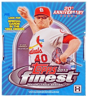 2013 Topps Finest Baseball Hobby 8-Box Case - DACW Live 21 Spot Random Team Break
