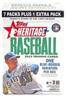 2013 Topps Heritage Baseball 8-Pack Box