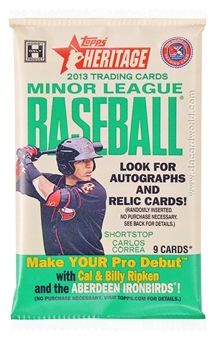 2013 Topps Heritage Minor League Baseball Hobby Pack