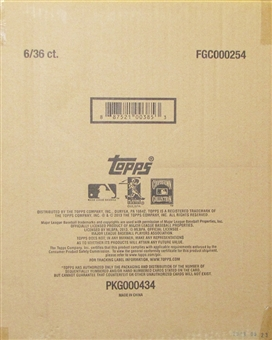 2013 Topps MLB Chipz Baseball Hobby 6-Box Case