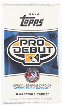 2013 Topps Pro Debut Baseball Hobby Pack