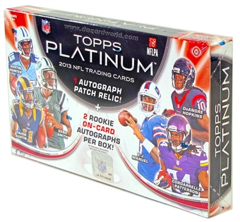 2013 Topps Platinum Football Hobby 12-Box Case - DACW Live 30 Spot Random Team Break