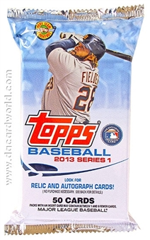 2013 Topps Series 1 Baseball Jumbo Pack