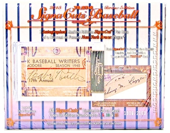 2013 TriStar SignaCuts Bronx Edition Baseball Hobby Box