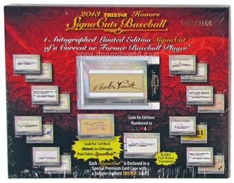 2013 TriStar SignaCuts Honors Baseball Hobby Box