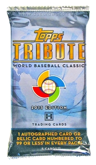 2013 Topps Tribute Baseball WBC Edition Hobby Pack