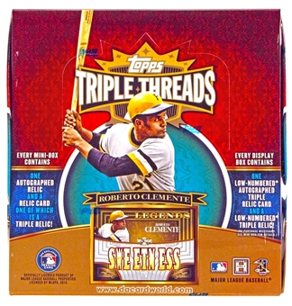 2013 Topps Triple Threads Baseball Hobby 18-Box Case- DACW Live 28 Spot Random Break