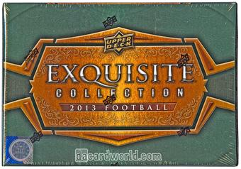 2013 Upper Deck Exquisite Football TWO 3-Box Case- DACW Live 32 Spot Random Team Break #2
