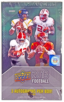 2013 Upper Deck Football Hobby Box